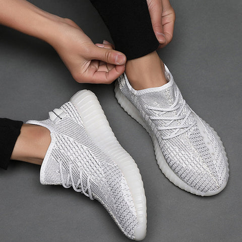 Lace-up Breathable Mesh Round Toe Flat Shoes