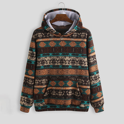 Men's Printed Ethnic Pocket Hoodies