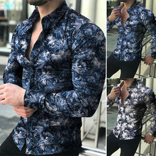 Load image into Gallery viewer, Men Casual Fashion Printed Long Sleeve Turndown Collar Shirts