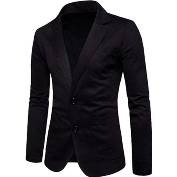 Men's Fashion Solid Color Jacket Casual Jackets