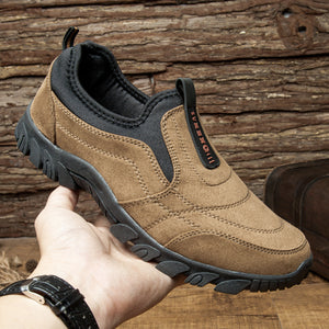 Mens Outdoor Slip-on Casual Comfortable Hiking Shoes