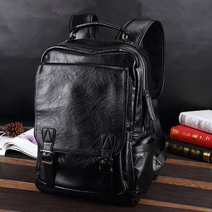 Mens Fashion USB Charging Port Travel Outdoor Backpack