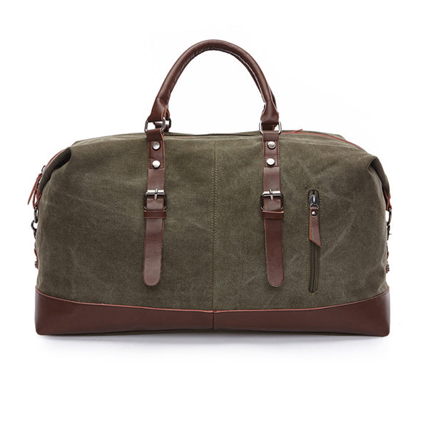 Mens Casual Canvas Large Capacity Outdoor Travel Bag