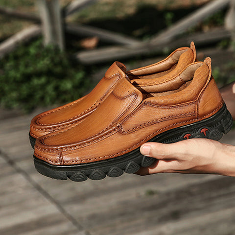 Men's Outdoor Genuine Leather Casual Athletic Shoes