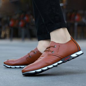 Mens Round Toe Lace-up Elevator Shoes