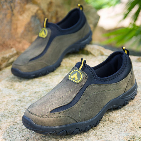 Mens Fashion Slip-on Hiking Shoes Outdoor Climbing Athletic Shoes