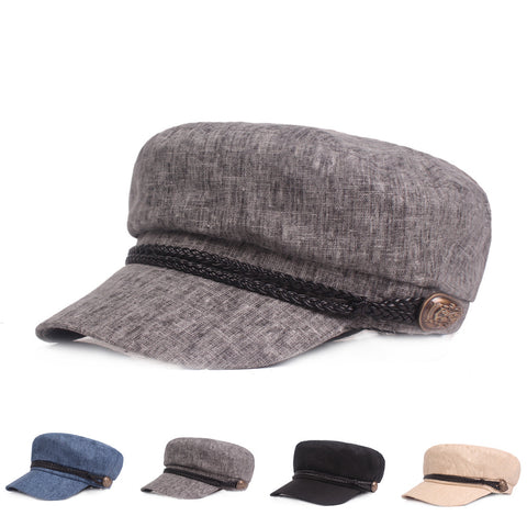 Men's Beret Breathable Casual Solid Flat Cap