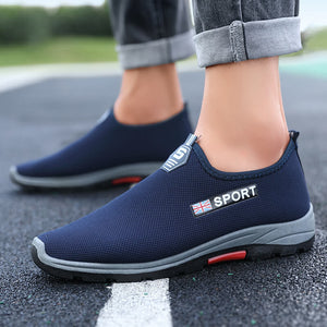 Men Knitted Fabric Comfy Breathable Sport Running Casual Sneakers