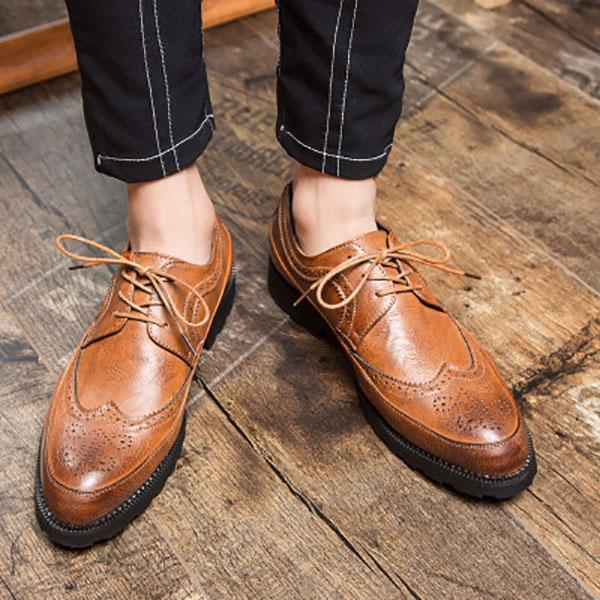 Brock Carved Thick-Soled Casual Shoes