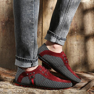 Vintage Business Flats Casual Lace-up Shoes