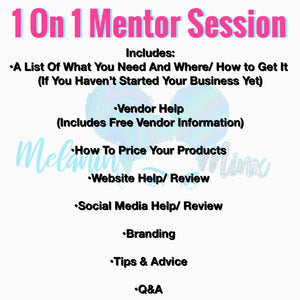 1 On 1 Business Mentoring (1 Hour)