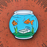 'Sleep with the Fishes' Lapel Pin - Lil Bullies   - 2