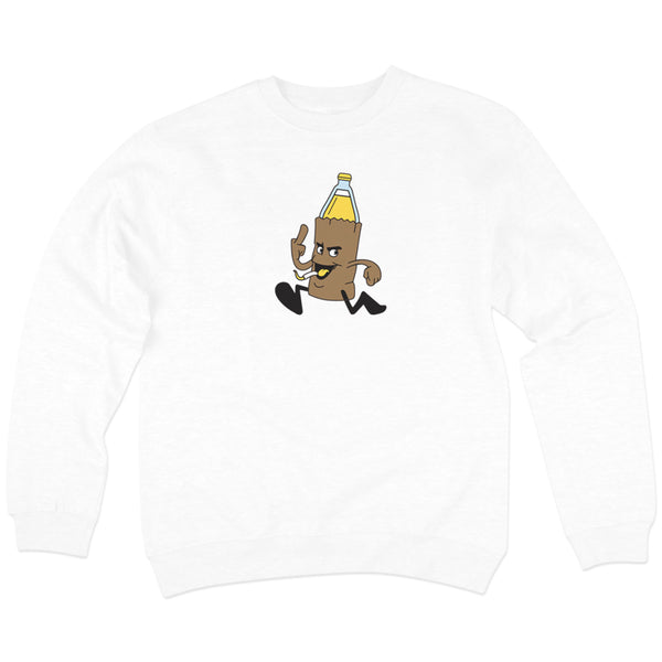 '40oz' Crewneck Sweatshirt (White)