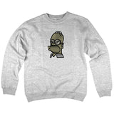 'Beer Goggles' Crewneck Sweatshirt (Heather Grey)