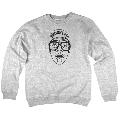 'Brooklyn' Crewneck Sweatshirt (Heather Grey)