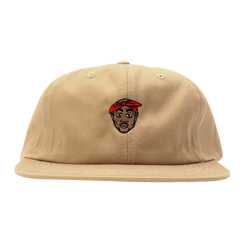 'All Eyez On Me' StrapBack Hat (Tan)