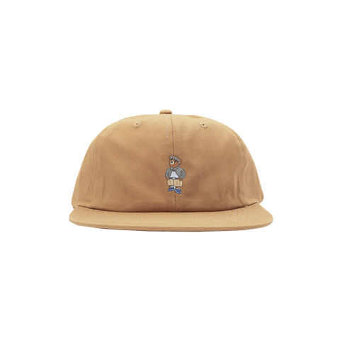 'Cholo Bear' StrapBack Hat (Khaki)