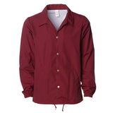'Essentials Coaches Jacket' (Burgundy)