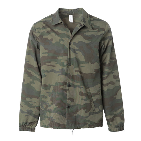 'Essentials Coaches Jacket' (Forrest Camo)