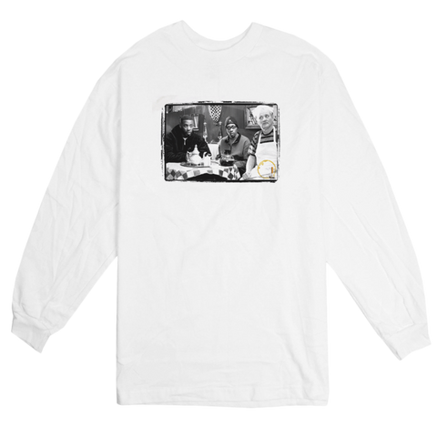 'Coffee & Cigarettes' L/S T-Shirt (White)