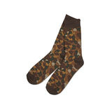 'Camouflage' Socks (Brown)