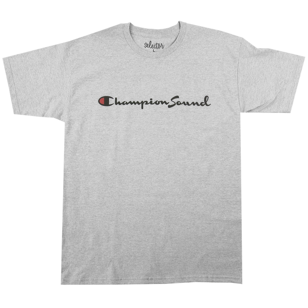'Champion Sound' T-Shirt (Heather Grey)