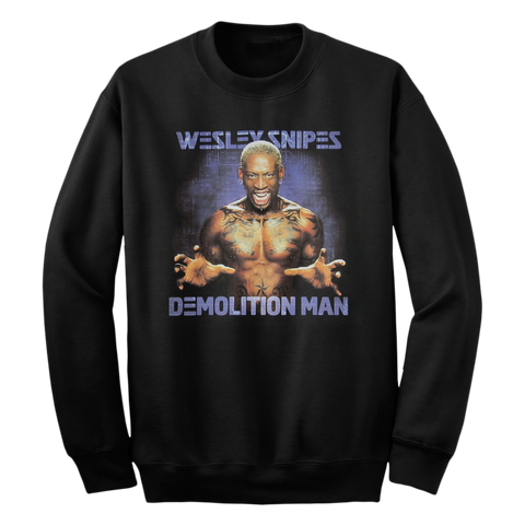 'Demolition Man' Crewneck Sweatshirt (Black)