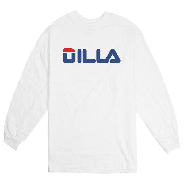 'DILA' Long Sleeve T-Shirt (White)