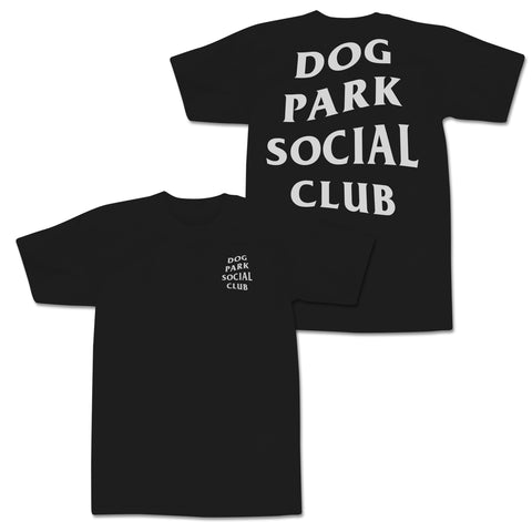 'Dog Park Club' T-Shirt (Black)