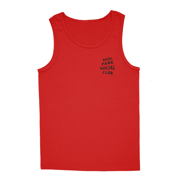 'Dog Park Club' Tank-Top (Red)