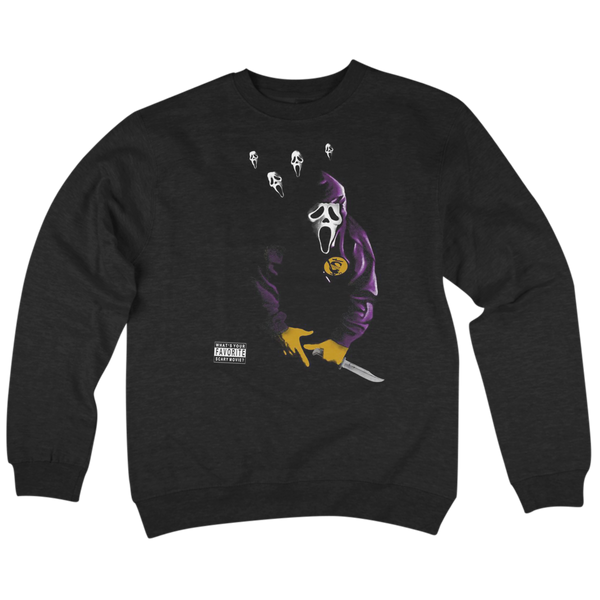 'SC.R.E.A.M.' Crew Neck Sweatshirt (Black)