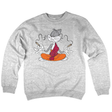 'Drugs Bunny' Crewneck Sweatshirt (Heather Grey)