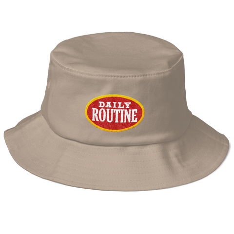 'Daily Routine' Khaki Bucket (Hat)