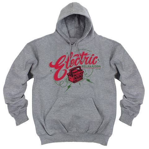 'Electric Relaxation' Hoodie (Heather Grey)