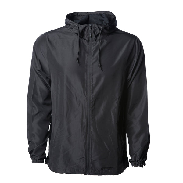 'Essentials Lightweight Windbreaker' (Black)