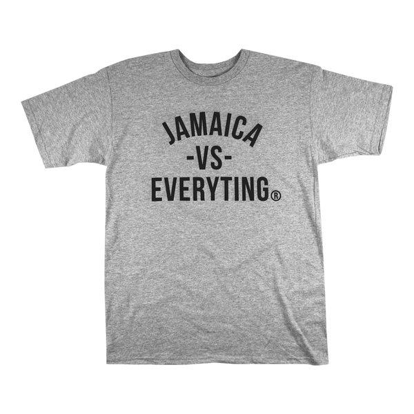 'Jamaica vs Everyting' T-Shirt (Heather Grey)