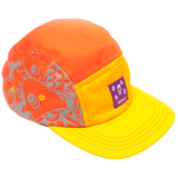 'Koi' Orange & Gold 5-Panel Hat