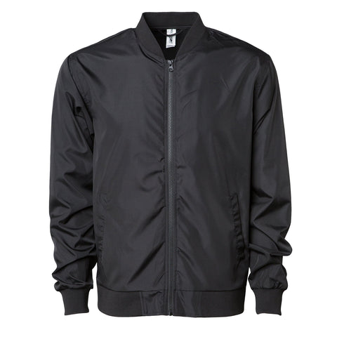 'Essentials Lightweight Bomber Jacket' (Black)
