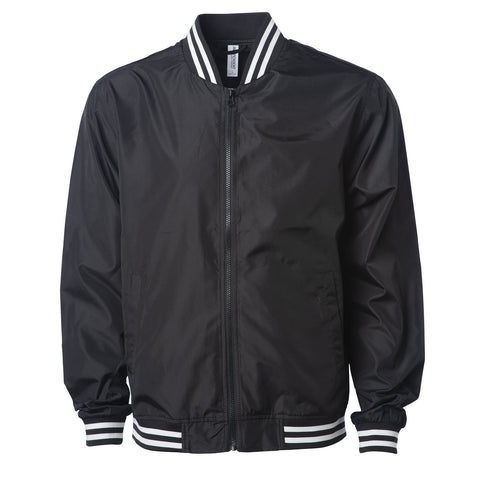 'Essentials Lightweight Bomber Jacket' (B&W)