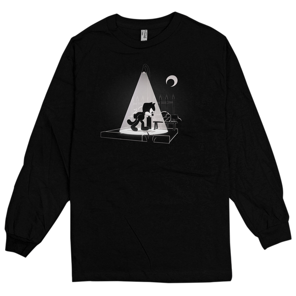 'Alley Cat' Long Sleeve T-Shirt (Black)