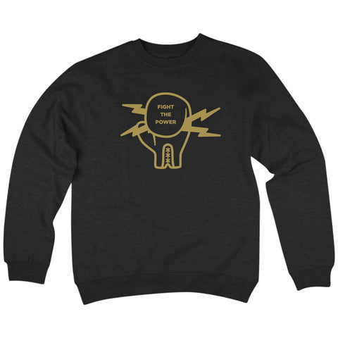 'Fight The Power' Crewneck Sweatshirt (Black)