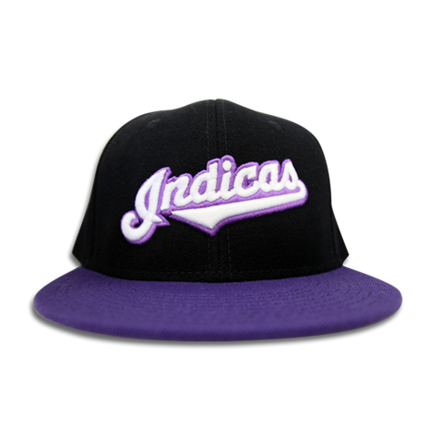 'Indicas' Snap Back (Black & Purple)
