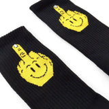 'Happy Finger' Socks (Black)