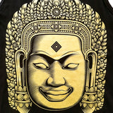 'Bayon Buddha' Gold Series Tank-Top (Black)