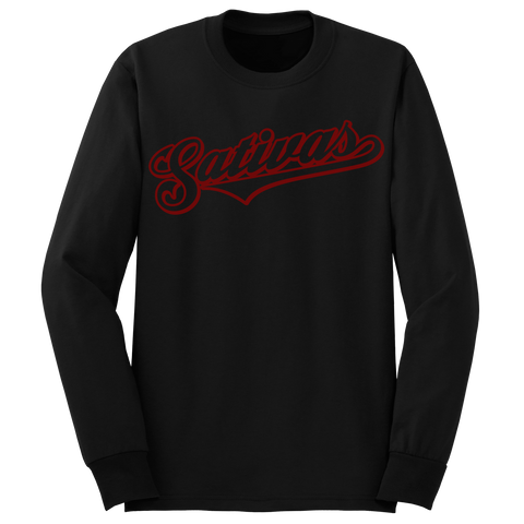 'Sativas' Long Sleeve T-Shirt (Black)