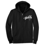 'Hutch' Zip-Up Hoodie (Black)