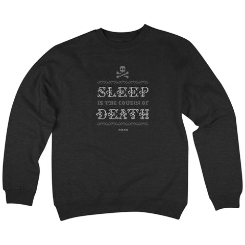 'Never Sleep' Crewneck Sweatshirt (Black)