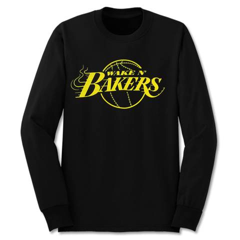 'Wake n Bakers' Crewneck Sweatshirt (Black)