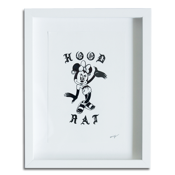 'Hood Rat' Original Illustration (Framed)