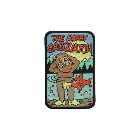 'Happy Sasquatch' Embroidered (Patch)